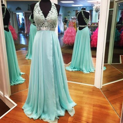 Empire Prom Dress,Lace Prom Dress,H..