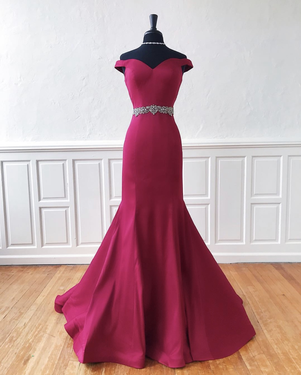 c4c684fa5c Off The Shoulder Mermaid Evening Dresses,Lovely Belt Long Evening Dresses  2019,Free Shipping Evening Party Dresses