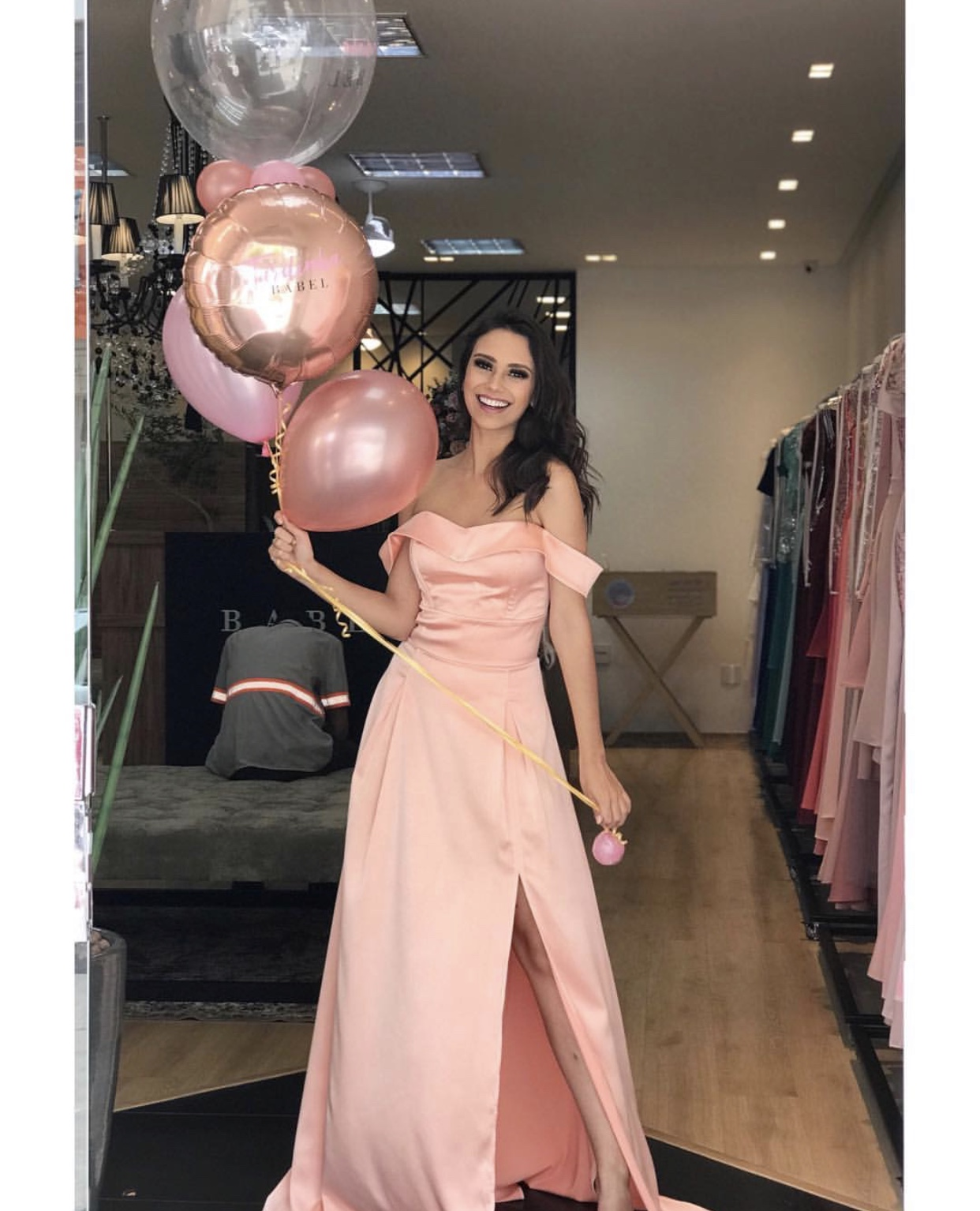Peach Off The Shoulder Satin Prom Dresses 2019,Side Slit Long Prom Dresses,Homecoming Dresses 2019