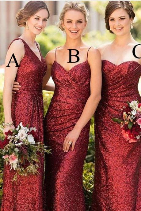 Wine Red Bridesmaid Dresses on Luulla