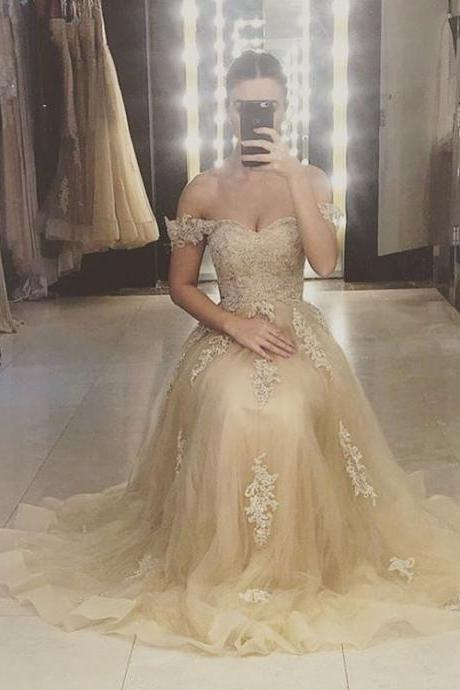 Lace Appliques Bridesmaid Dresses,Long Bridesmaid Dresses,Off the Shoulder Bridesmaid Dresses,Cheap Bridesmaid Dresses 2017