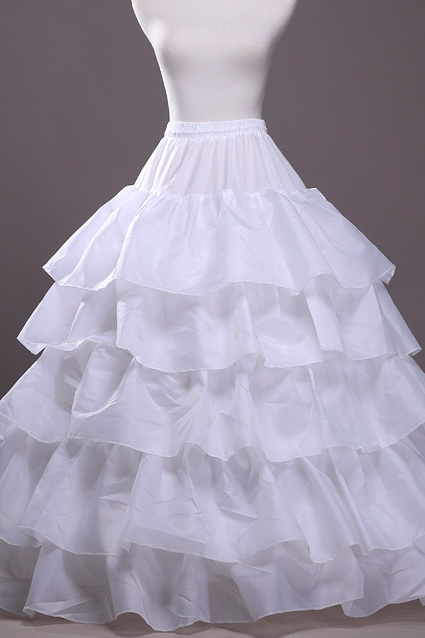 Wedding Dresses Petticoat,Ruffles Four Hoops Petticoat,Ball Gown Dresses Petticoat,Wedding Accessories