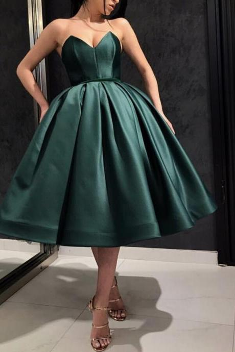 Royal Blue Party Dress Short,New Puffy Cocktail Dresses 2019,Dark Green Homecoming Dresses,Short Ball Gown Prom Dress 2019