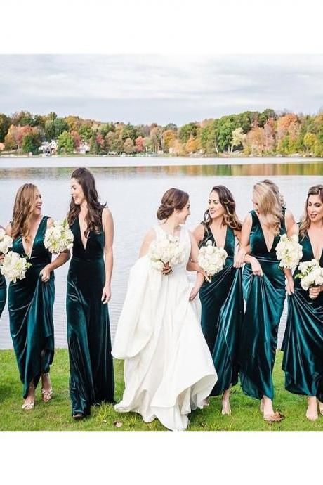 Velvet Bridesmaid Dresses 2020