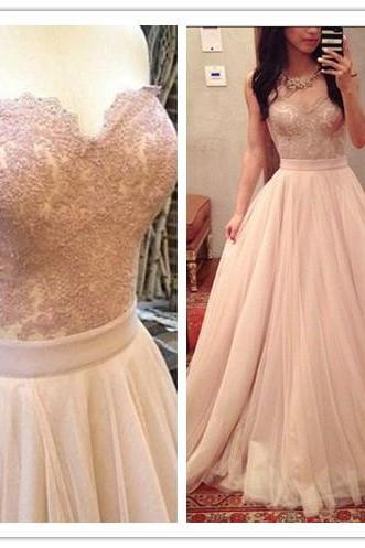 Baby Pink Empire Princess Prom Dresses Long 2017,Sweetheart Tulle Party Dresses,Prom Party Gowns,Real Photos Formal Dresses