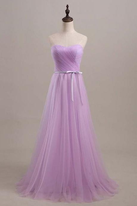 Lavender Long Bridesmaid Dresses,Cheap Tulle A Line Bridesmaid Dresses,Dresses for Bridesmaid,Long Formal Dresses