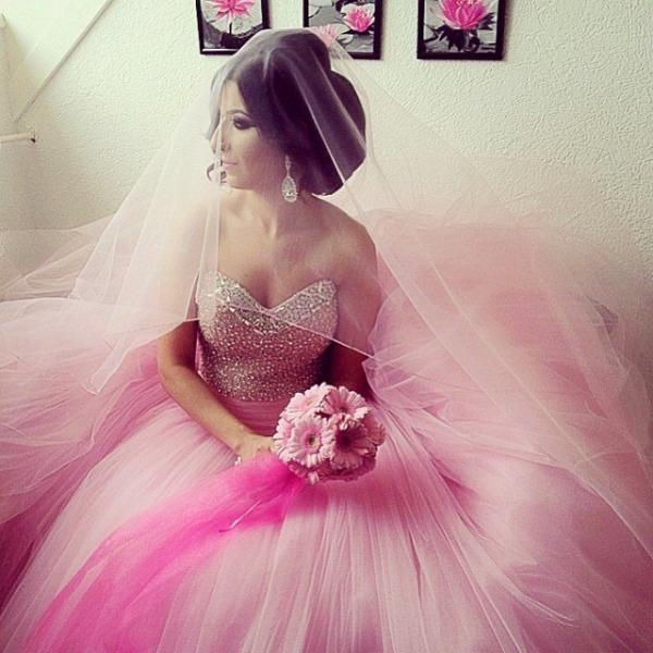 Pink Wedding Dresses,Ball Gowns Quinceanera Dresses 2017,Sweet 16 dresses,Bridal Dresses