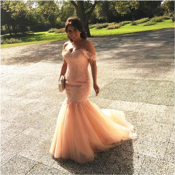 Princess Style Prom Dress,Off the Shoulder Mermaid Lace Prom Dresses 2017, New Vestido de Festa,Lace Evening Party Dresses